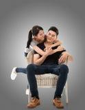 Unga asiatiska par arkivfoton