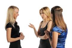 unga attraktiva tre kvinnor Fotografering för Bildbyråer