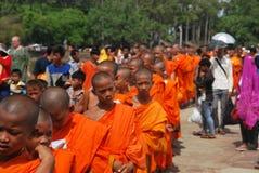 unga buddistiska monks Fotografering för Bildbyråer