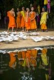 Unga buddistiska munkar Chiang Mai Thailand Arkivfoto
