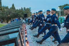 Unga Cadets royaltyfri fotografi