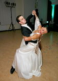 Unga dansare av danssportfederation av St Petersburg Royaltyfria Foton