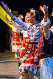 Unga dansare från Bulgarien i traditionell dräkt Fotografering för Bildbyråer