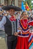 Unga dansare från Mexico i traditionell dräkt Arkivfoto