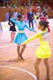 Unga dansare som sammanfogar den 18th Guangdong Dancespots Chamionship konkurrensen Royaltyfria Foton
