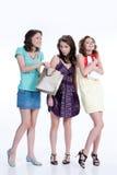unga emotionella paper kvinnor för påse Royaltyfria Bilder