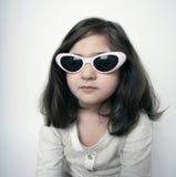 unga flickaexponeringsglas royaltyfri fotografi