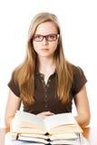 Unga flickan lär Fotografering för Bildbyråer
