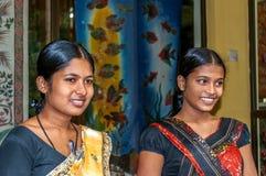 Unga flickor från Sri Lanka Royaltyfri Fotografi