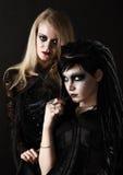 unga gotiska kvinnor Arkivbild