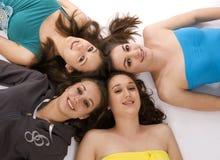 unga gruppkvinnor Arkivfoto