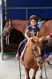 Unga hästryttare Royaltyfri Foto