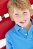 unga head skulder för pojke Arkivfoto