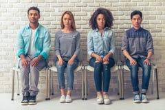 Unga internationella studenter Arkivfoto