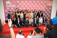 Unga jurymedlemmar, 70th Venedig filmfestival Royaltyfria Bilder
