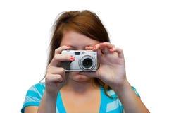 unga kamerakvinnor Royaltyfria Foton