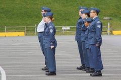 Unga kanadensiska luftkadetter Fotografering för Bildbyråer