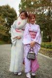 unga klänningkimonokvinnor Royaltyfri Foto