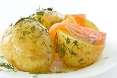 unga kokt potatisar Fotografering för Bildbyråer