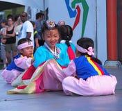 Unga koreanska dansare Fotografering för Bildbyråer