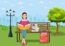 Unga kvinnaavläsningsböcker Arkivbilder