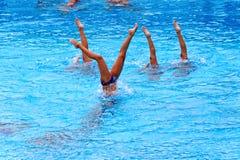 Unga kvinnliga simmare Royaltyfri Bild