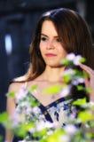 unga långa model kvinnor för härligt hår Royaltyfria Foton