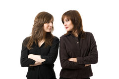 unga le kvinnor för affär Arkivbild