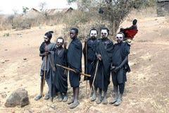 Unga Masaikrigare arkivfoton