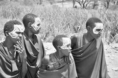 Unga Masaimän Arkivfoton