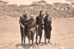 Unga Masaimän Arkivbilder