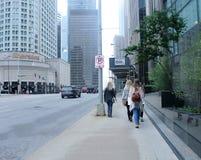 Unga nätta flickor i i stadens centrum Chicago Royaltyfria Bilder