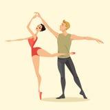 Unga par av balettdansörer Royaltyfri Fotografi