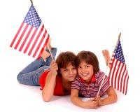 unga patrioter arkivbilder