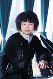 unga pianokvinnor Fotografering för Bildbyråer