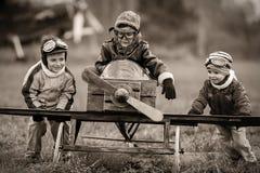 Unga piloter Arkivfoto