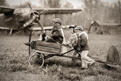Unga piloter Arkivbilder