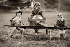 Unga piloter Arkivbild