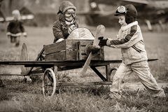 Unga piloter Arkivfoton