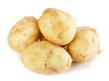 Unga potatisar som isoleras på den vita bakgrunden Royaltyfria Bilder