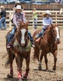 Unga rodeoflickor Arkivbilder