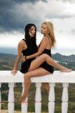 unga sexiga två kvinnor Royaltyfri Bild