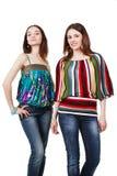 unga sinnliga två kvinnor för härlig glamour Royaltyfri Fotografi