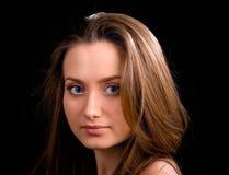 unga skönhetsvart kvinna arkivfoto
