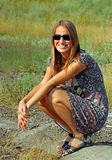 unga solglasögonkvinnor Fotografering för Bildbyråer