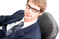 unga stiliga män för affär Fotografering för Bildbyråer