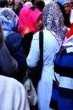 Unga turkiska kvinnor med scarves Arkivfoton