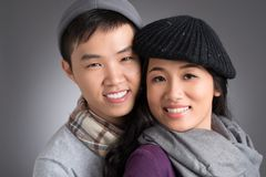 Unga vietnamesiska par royaltyfri fotografi