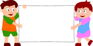 ungar för 1 baner royaltyfri illustrationer