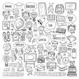 Ungar för språkskola, chidlren, pojkar och flickor Lyckliga studenter som lär engelska, spanjor, tysk, italienare, arabiska vektor illustrationer